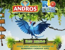 Andros s'associe au film d'animation RIO