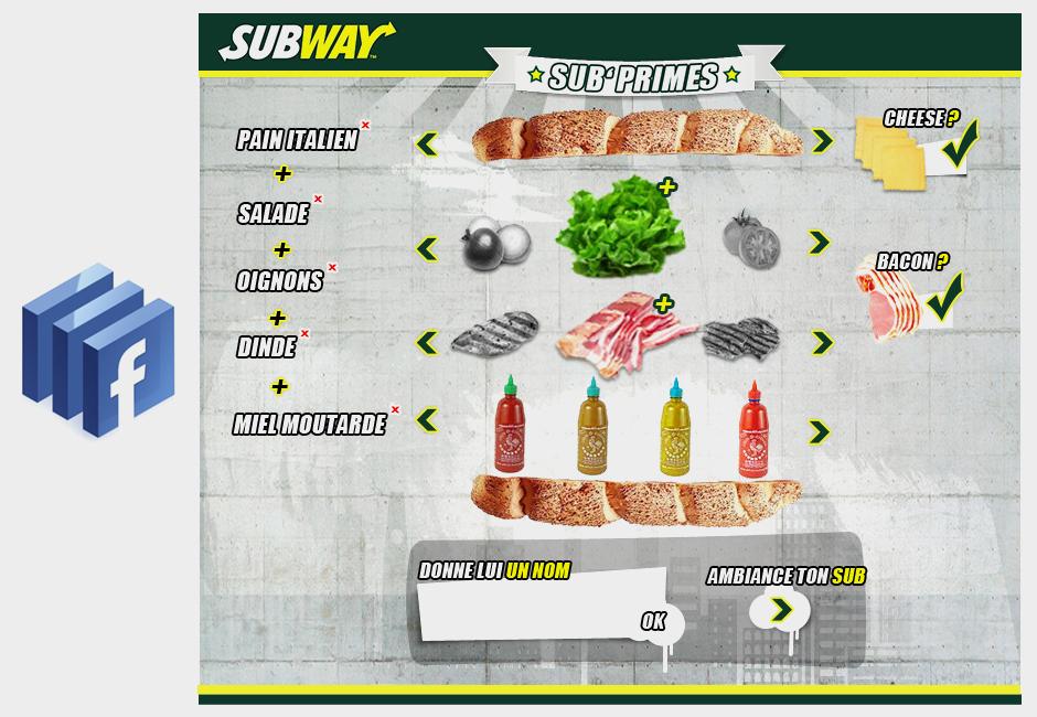 subway concept web design graphic facebook apps choix