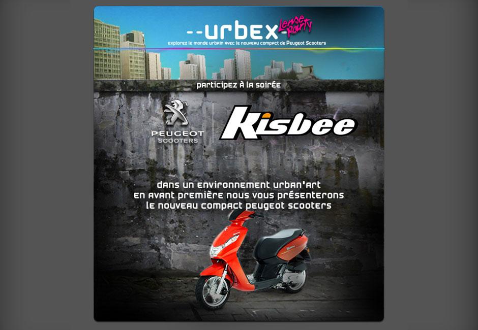 peugeot kisbee webdesign concept urbex newsletter