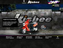Lancement du scooter Peugeot Kisbee, concept Urbex