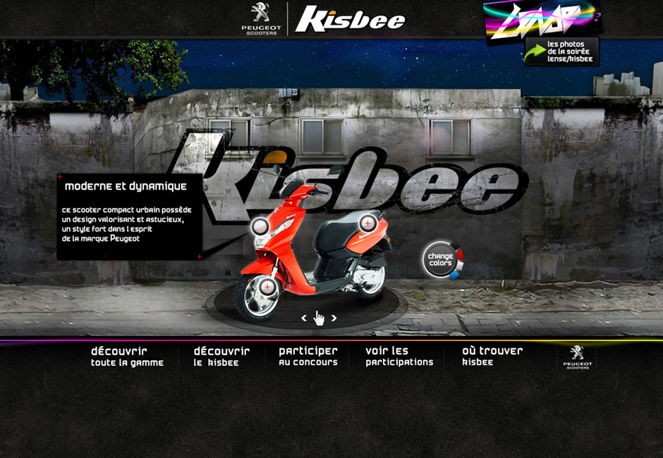 peugeot kisbee webdesign concept urbex scooter