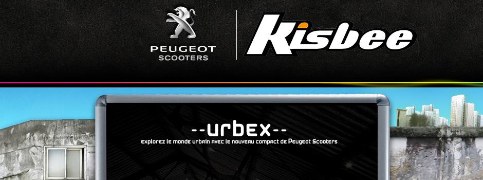 peugeot kisbee webdesign concept urbex slide