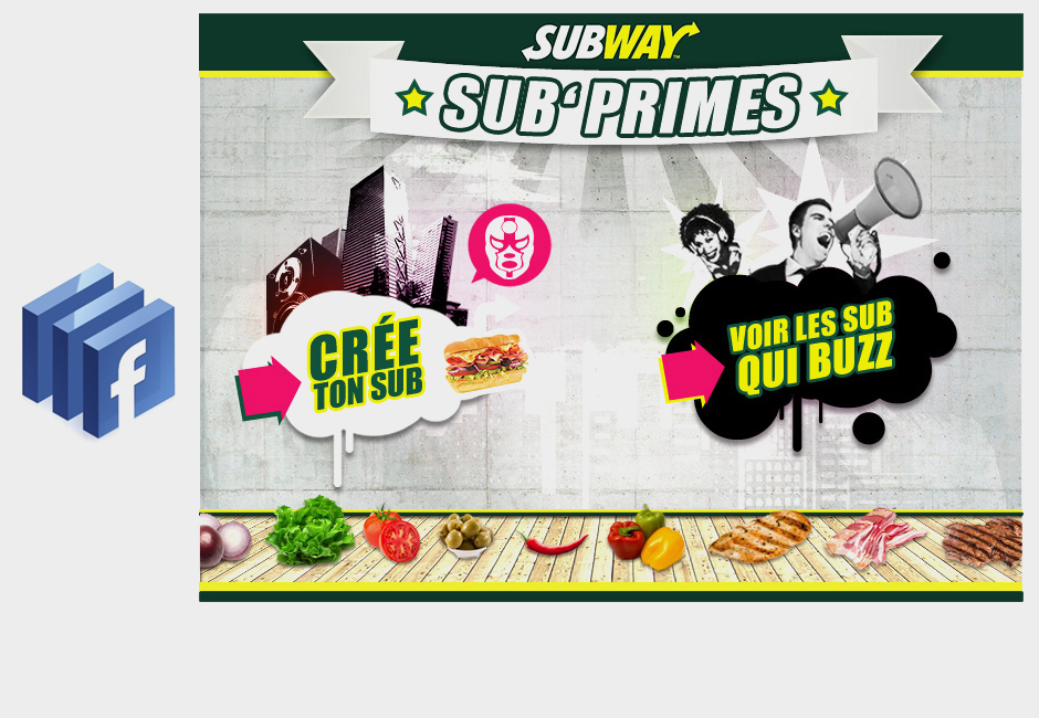 subway concept web design graphic facebook apps home